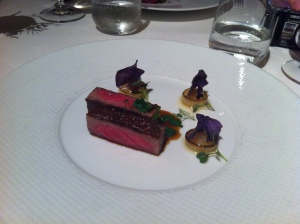 Slow cooked beef, caramelised onion,