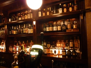 Some of the whisky selection at Brick