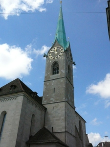 The steeple of Fraumunster