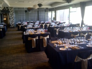 The VIVA Room set for dinner