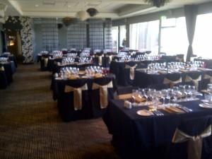 The VIVA Room set for dinner