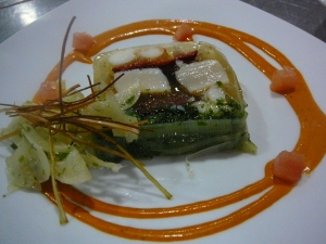 Scallop, prawn and Balmain bug terrine