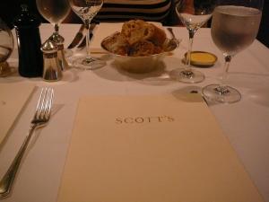 Scott's Menu