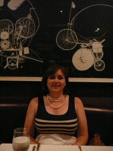 Yours truly, upmarket restaurant called for pearls.