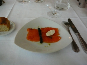 Salmon, Caviar, creme fraiche