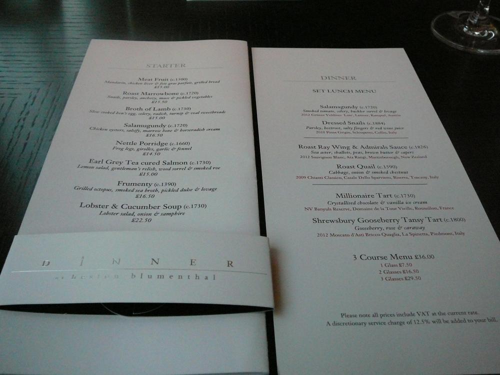 Dinner By Heston Blumenthal, Mandarin Oriental, London (4/6)