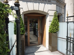 Entrance to Bar Boulud, London