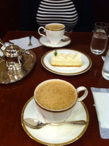 Coffee with cheesecake Ginza