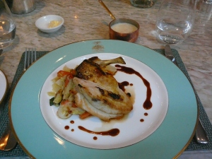 Chicken breast with bread sauce