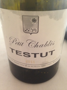 A nice chilled Petit chablis