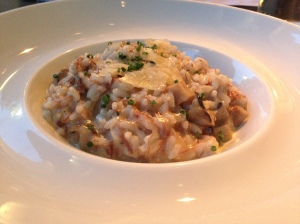 Confit duck and mushroom risotto