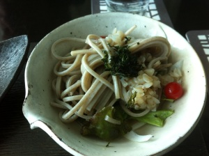 Chilled soba noodles