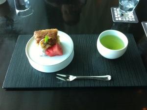Japanese black sugar cake
