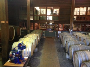 Barrel room , Cassegrain Winery