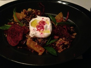 Beetroot and burrata salad
