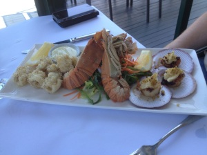 Local seafood plate