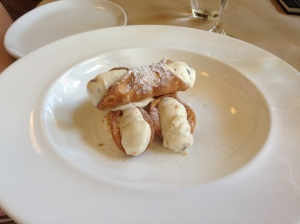Canoli with fresh vailla ricotta