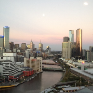Melbourne sky line and Yarra River