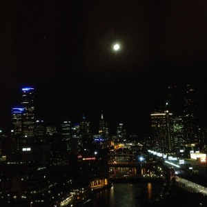 Full moon over Melbourne