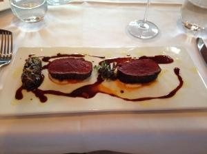 Venison with parsnip puree