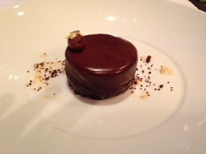 Four textures of chocolate