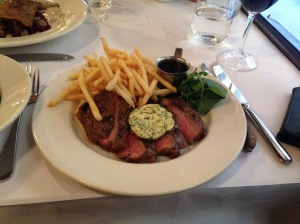 Steak Frites cafe de Paris butter and jus