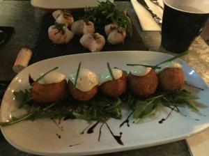 Dumplings and arancini