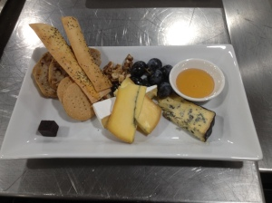 Cheese board with hous made breads