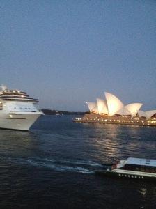 Bye bye cruise ship!