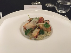 Butter poached marron and shellfish risotto