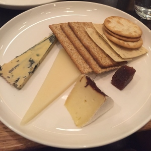 Cheese selection Qantas First Class Lounge Sydney