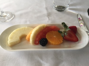 Fruit Plate - Emirates First Class Dubai to Geneva