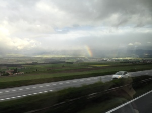 Rainbow on our way