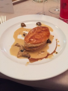 Wild mushrooms in puff pastry