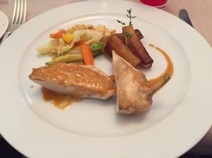 Chicken with chorizo sauce
