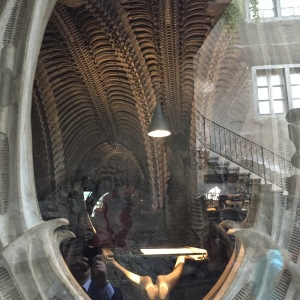 H.R> Giger Cafe/Bar through the window
