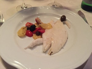 Fish with caponata