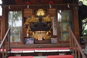 Shishi LionHead mask, Namiyoke Inari Shrine, Tsukiji