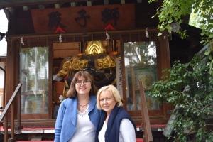 Mum and I at Namiyoke Inari Shrine, Tsukiji