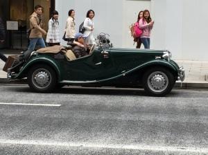 Classic car rally - beautiful 1950's MG