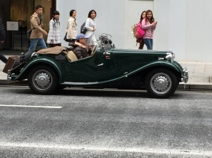 Classic car rally - beautiful 1950's MG
