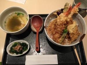 Tempura don, miso soup