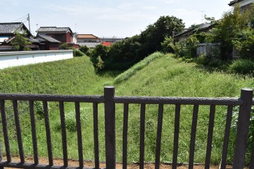 Part of the old moat fortifications of Kawagoe