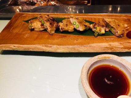 Asparagus and Shimanto Pork jeon pancake