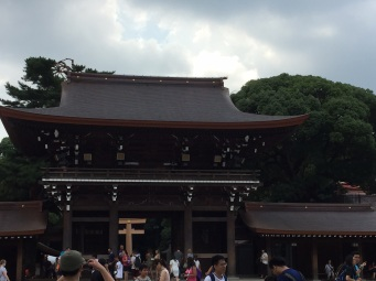 Meiji-Jingu roof replaced in 2016 and weathered