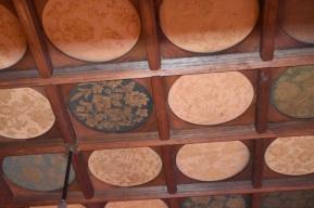 Silk paneled ceiling