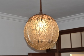 Art deco glass light fitting
