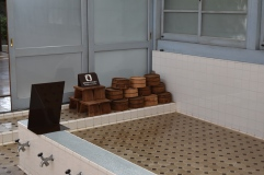 Stools and buckets for washing