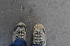 A bit of mud to prove I hiked