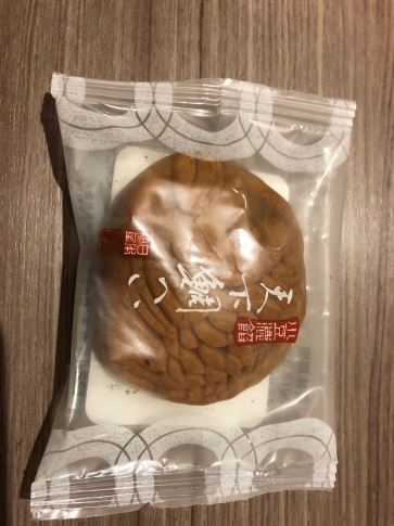 Adzuki bean filled biscuit